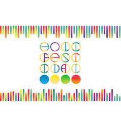 Holika festival lettering in color vector