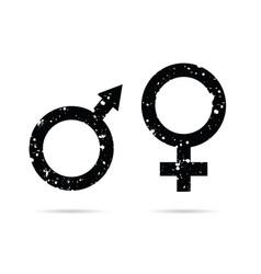 Male and female grunge icon black vector