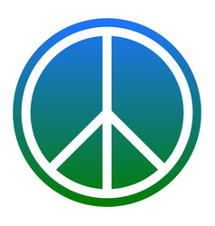 Peace sign white icon in vector