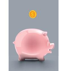 Pink piggy bank vector image vector image