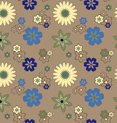 seamless pattern with daisies vector image