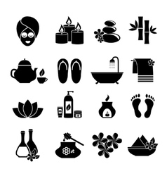set of icons for Spa vector image vector image