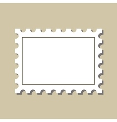 stamp postmark template vector image