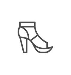 t-strap shoe line icon vector image vector image