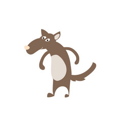 Timber wolf personage vector