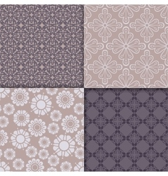 Violet and serenity geometric pattern set vector image vector image