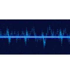 Sound waves oscillating glow vector