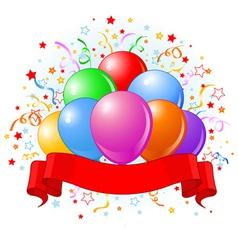 Birthday balloons design vector image