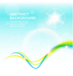 Summer blurred abstract background vector