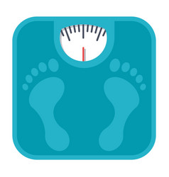 bathroom scales icon vector image