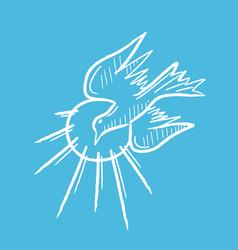 Dove holyspirit flying vector