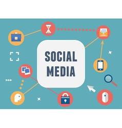 Concept of social media vector image