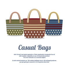 Set of casual handbags vector