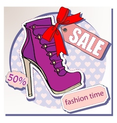 Selling shoes vector