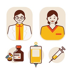 Health care and medical staff vector
