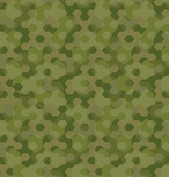 Camouflage geometric hexagon background seamless vector