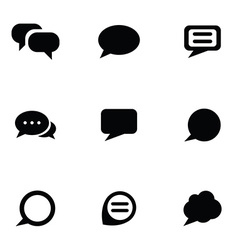 Think bubble icons set vector