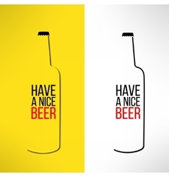 Beer bottle design background with a cool vector