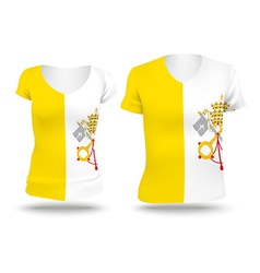 Flag shirt design of holy see vatican city vector