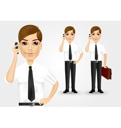 Business man talking on the phone vector