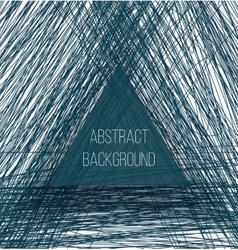 Abstract blue chaotic sketch lines background and vector