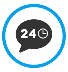 Message hours rounded icon vector