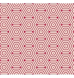 Red pattern geometric background vector image