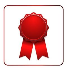 Ribbon award icon red 1 vector