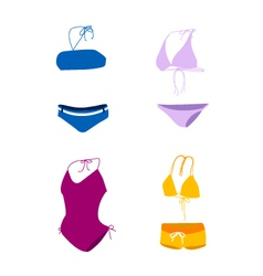 Bikini bathing suit swim suit vector
