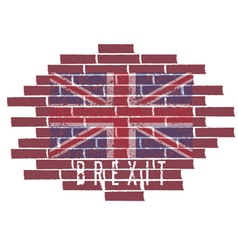 Brexit concept with United Kingdom flag on the vector image
