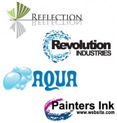 artistic logos vector image