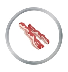 Bacon icon in cartoon style isolated on white vector image