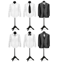 black suit and white shirt with necktie vector image