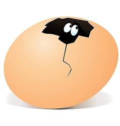 Broken egg with surprise inside vector