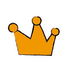 Cartoon crown royal fairy tale emblem vector