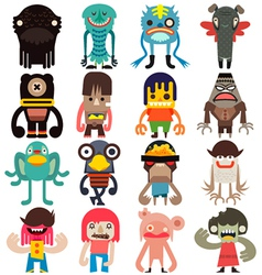 Cartoon cute monsters vector