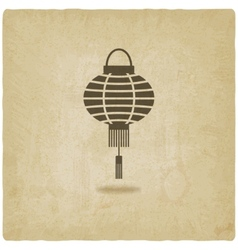 Chinese lantern old background vector image