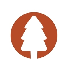 Christmas tree decoration isolated icon vector