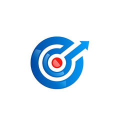 Circle arrow direction spot target logo vector