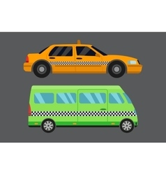 City road taxi transport vector image vector image