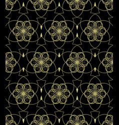 Classic gold patterns on black background vector