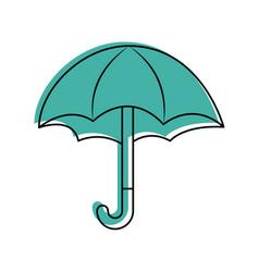 Cute umbrella isolated icon vector