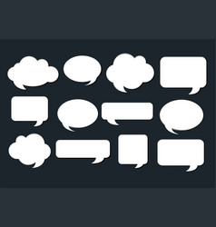 different design of speech bubbles on black vector image