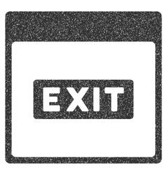 Exit caption calendar page grainy texture icon vector