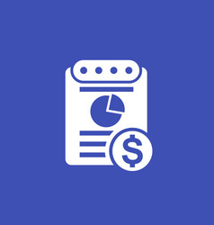 expense report icon vector image
