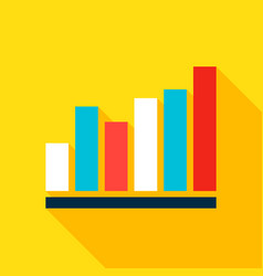 Graph flat icon vector