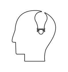 Human head bubl idea outline vector