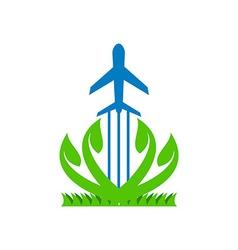 Logo plane aviate vector