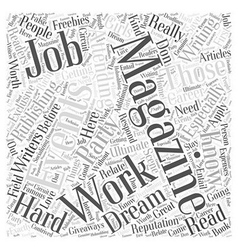 Magazine publishing career word cloud concept vector