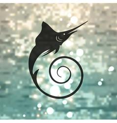 Marlin fish logo vector image